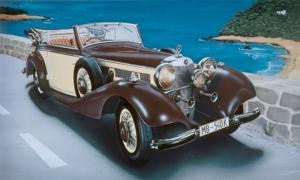 Samochód Mercedes Benz 540K Italeri 3701 skala 1-24