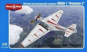 Samolot pasażerski NIAI-1 Fanera-2 skala 1:72 Mikromir 72-004