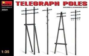 Słupy telegraficzne do dioram w skali 1:35