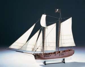 Statek piracki Adventure - Amati 1446 - drewniany model w skali 1:60