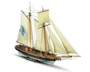Szkuner Marseille Mamoli MV25 drewniany model okrętu w skali 1-64