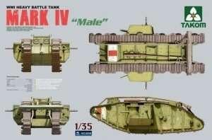 Takom 2008 model czołgu Mark IV Male