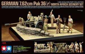 Tamiya 32408 German 7.62cm Pak36 (r) North Africa Scenery Set