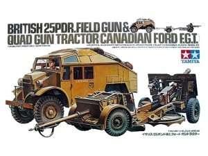 Tamiya 35044 British 25PDR. Field Gun & Quad Gun Tractor