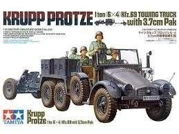 Tamiya 35259 Krupp Protze 1 ton (6x4) Kfz.69 Towing Truck with 3.7cm Pak