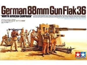 Tamiya 35283 German 88mm GUN Flak36 North African Campaign