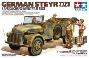Tamiya 35305 German Steyr Type 1500A/01 & Africa Corps Infantry At Rest