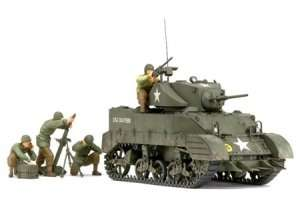 Tamiya 35313 U.S. Light Tank M5A1 Pursuit Operation Set