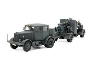 Tamiya 37027 Ciągnik SS-100 oraz działo 88mm Flak37 zestaw