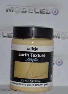 Vallejo 26217 Earth Texture - Desert Sand 200 ml