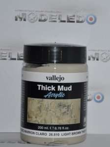 Vallejo 26810 Thick Mud - Light Brown Thick Mud
