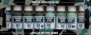 Vallejo 70127 Zestaw 8 farb Model Color - Panzer Aces 4 (Crew Uniforms)