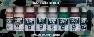 Vallejo 70129 Zestaw 8 farb Model Color - Panzer Aces 6 (Skintones, camouflage...)