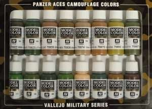 Vallejo 70179 Zestaw 16 farb - Panzer Aces Camouflage Colors