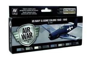 Vallejo 71157 Zestaw 8 farb - US Navy & USMC Colors 1940-45