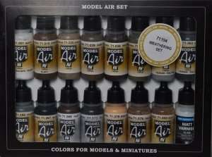Vallejo 71194 Zestaw 16 farb Model Air - Weathering Set