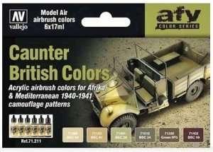 Vallejo 71211 Zestaw 6 farb - Caunter British Colors