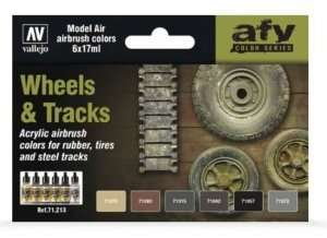 Vallejo 71213 Zestaw 6 farb - Wheels and Tracks