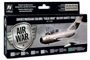 Vallejo 71610 Zestaw Soviet/Russian colors Cold War silver darts