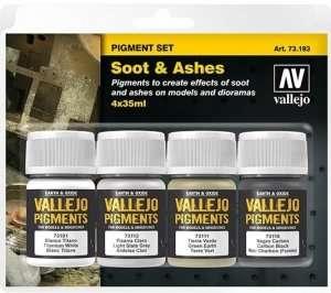 Vallejo 73193 Sadza i proch - zestaw 4 pigmentów