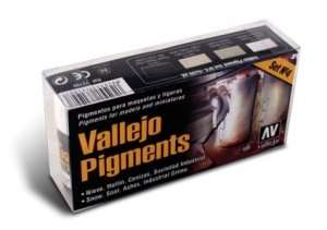 Vallejo 73199 - Pigment Set No.4 - Snow, Soot, Ashes, Industrial Grime - 4x30ml
