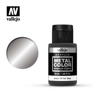 Vallejo 77712 Steel 32ml Acrylic Metal Color