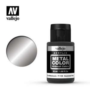 Vallejo 77720 Gunmetal Grey 32ml Acrylic Metal Color