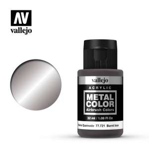 Vallejo 77721 Burnt Iron 32ml Acrylic Metal Color