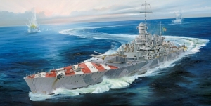 Włoski pancernik Trumpeter 05777 Italian Navy Battleship RN Roma (1943)
