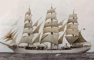 Żaglowiec Danmark - BB5005 - drewniany statek skala 1-75