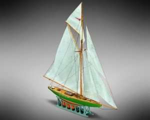 Żaglówka Shamrock - Mamoli MM63 - drewniany model w skali 1-170