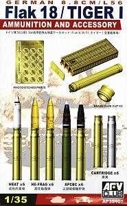 Zestaw pocisków 88mm i akcesoriów w skali 1:35 AFV 35107