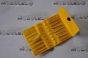 Zestaw 15 wierteł modelarskich 0,3-1,0 mm - ZHSS1