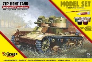 Zestaw modelarski polski czołg lekki 7TP dwuwieżowy 835094