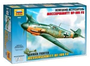 Zvezda 4802 German WWII fighter Messerschmitt Bf109 F2