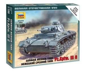 Zvezda 6119 German Medium Tank Pz.Kp.fw. III