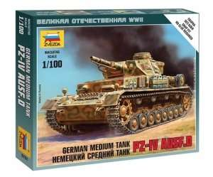 Zvezda 6151 German tank Pz-IV Ausf.D
