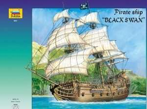Zvezda 9031 Pirate Ship Black Swan