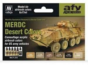 Vallejo 71212 Zestaw 6 farb - MERDC Desert Colors