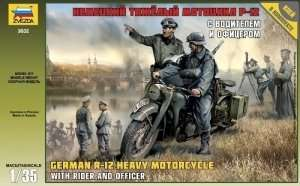 Zvezda 3632 German R-12 Heavy Motorcycle with rider