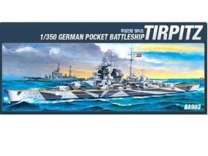 Model Academy 14111 pancernik Tirpitz