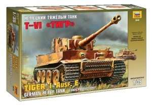 Model Zvezda 3646 czołg Tiger I Ausf. E