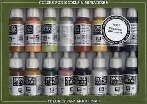 Vallejo 70107 Zestaw 16 farb Model Color - WWII Niemcy