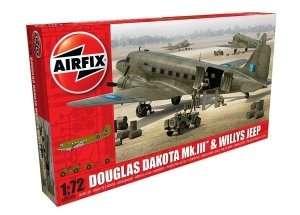 Model Douglas Dakota MkIII with Willys Jeep Airfix 09008