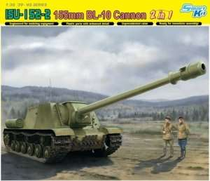 Dragon 6796 ISU-152-2 155mm BL-10 Cannon 2w1