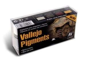Vallejo 73197 - Pigment Set No.2 - Mud and sand - 4x30ml