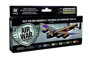 Vallejo 71145 Zestaw 8 farb - RAF Colors Bomber & Training 39-45
