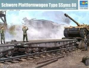 Trumpeter 00221 German Schwere Platformwagen Type SSyms 80
