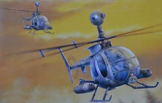 Plasikowy model helikoptera do sklejania MD530G Gunship w skali 1:35.-image_Dragon_3526_1