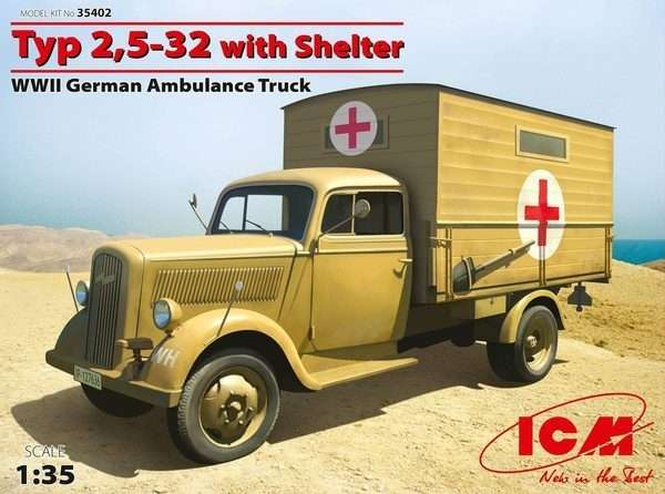 ICM 35402 Typ 2,5-32 with Shelter Ambulance Truck WWII